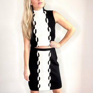 Etcetera Black & White Skirt & Sleeveless Top Set
